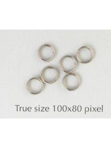 Split Ring (Steel) 5mm Nickel Plated