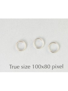 Split Ring (Steel) 5mm Silver Plated