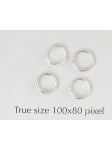 Split Ring (Steel) 6mm Silver Plated
