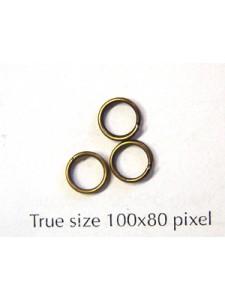 Split Ring (Steel) 6mm Antique Brass