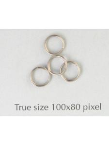 Split Ring (Steel) 6mm Nickel Plated