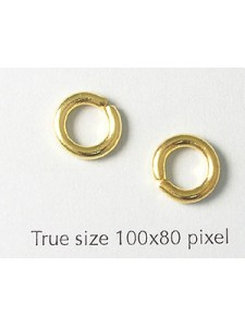 Jump Ring Internal 6mm  2mm thick G/P NF