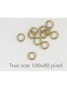 Jump Ring Brass 4x0.7mm Antique Brass