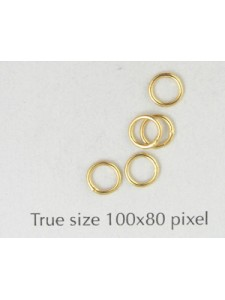 Jumpring Soldered 5mm Gold Plated