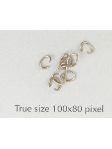Jumpring Oval 4x3x0.6mm Nickel Plated