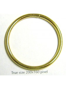 Jump Ring  (soldered) 38mm Gold