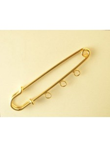 Kilt Pin 60mm 3 loop Gold plated