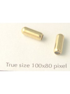 Stick Pin Protector 4x10mm Gold plated