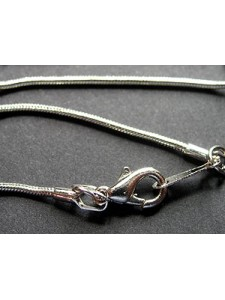 Snake Chain 1.2mm Platinum NF 17in