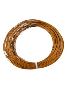 Steel Wire Necklace Lt.Brown 1mm 17.5in