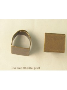 Finger Ring adjust. Square Anti Brass NF