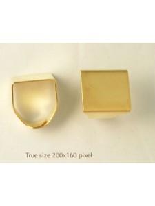 Finger Ring adjustable Square GP N Free