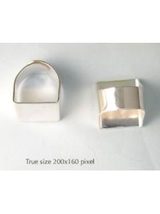 Finger Ring adjustable Square top S/P NF
