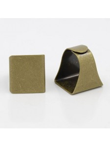 Finger Ring (asia) 19mm Sq Antique Brass