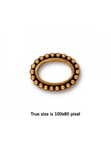 BEAD FRAME  6X9 OVAL  Antique Gold