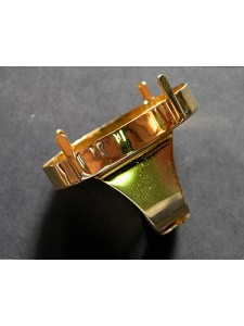 Ring for 4127 39mm Square base Gold Plat