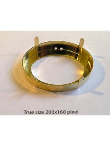 Setting for 4127 39x28mm 4H Gold Plated