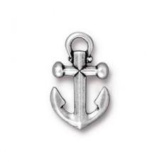 Anchor Charm Antique Silver