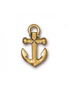 Anchor Charm Antique Gold