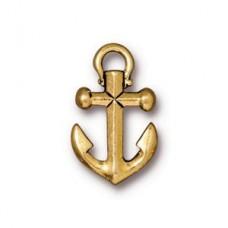 Anchor Charm Antique Gold