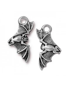 Charm Bat 20x12mm Antique Silver