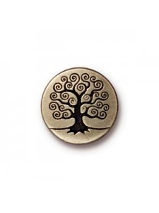 Button Tree of Life 16mm  Antique Bronze