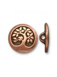 Button Bird in Tree 17mm Anti Copper