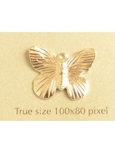 Butterfly Charm Silver Plated