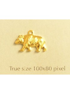 Bear Charm Gold Plated