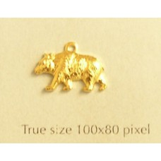Bear Charm Gold Plated
