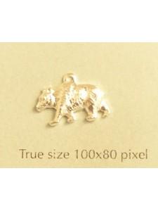 Bear Charm Silver Plated