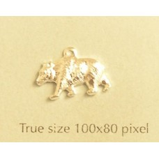 Bear Charm Silver Plated