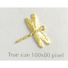 Dragonfly Charm Small  Gold Plated