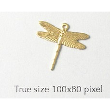 Dragonfly Charm Small  Raw