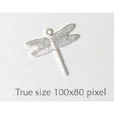 Dragonfly Charm Small  Silver Plated
