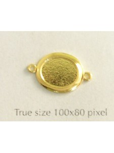 Flat Oval Stone Setting 10mm 2-ring GP