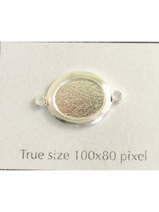 Flat Oval Stone Setting 10mm 2-ring SP