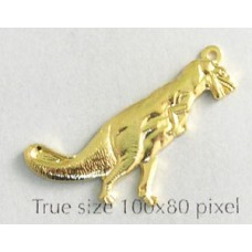 Dinosaur T-Rex Charm Gold Plated