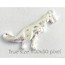 Dinosaur T-Rex Charm Silver Plated