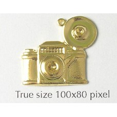 Camera Charm Gold Plated