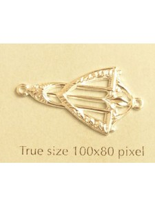 Earring Part 2-loop Art Deco Silv Plated