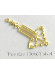 Earring Part 2-loop Art Deco Gold Plated