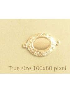Flat Oval 8mm Stone Setting 2-ring SP