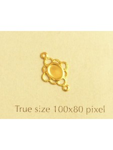 Filigree spacer 2 rings 8mm Gold plated