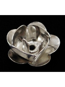 Rose 8mm diameter H0.8mm Platinum Plated