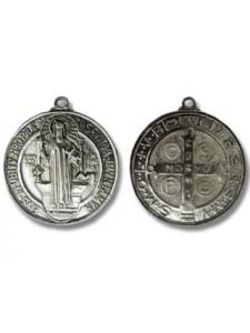 Religious Coin Pendant 48mm Antiq Silver