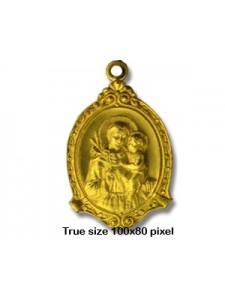 Religious Medallion  St.Anthony  RAW