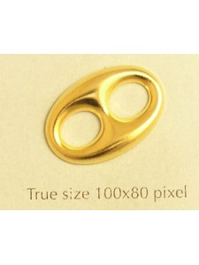 Anchor Chain link stamping 20mm Gold pl