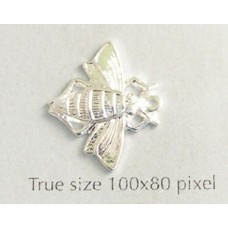Bee Charm Silver Plated