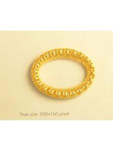 Filgree Oval Ring  35x28mm  Gold